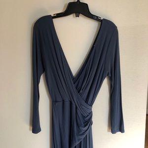 Blue long sleeve dress- Velvet By Graham & Spencer